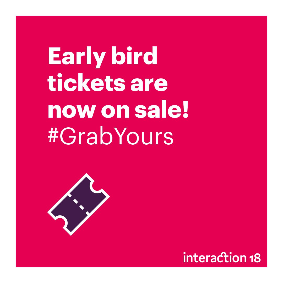 Early bird tickets are now on sale! Grab them while they last. #GrabYours #IxD18 https://t.co/398IZxHTet https://t.co/lNTC8zdDUv