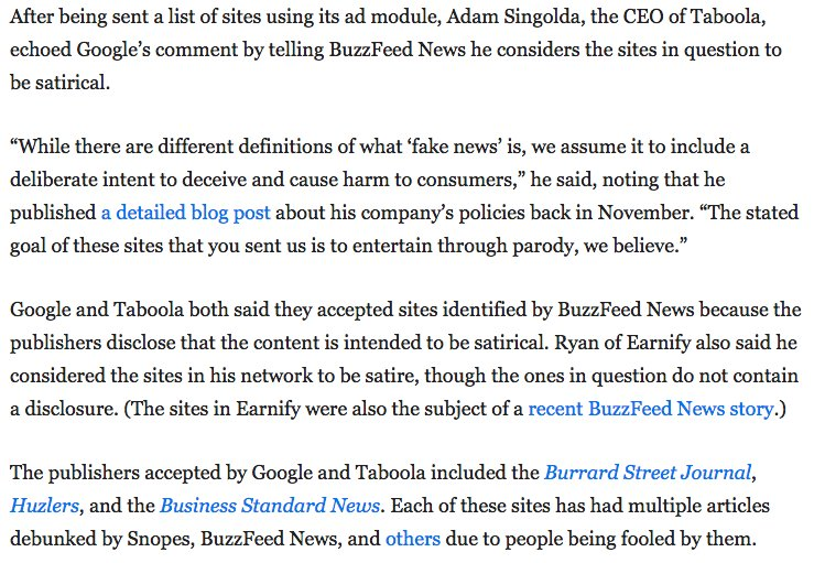 Craig Silverman On Twitter Several Ad Networks Told Us They