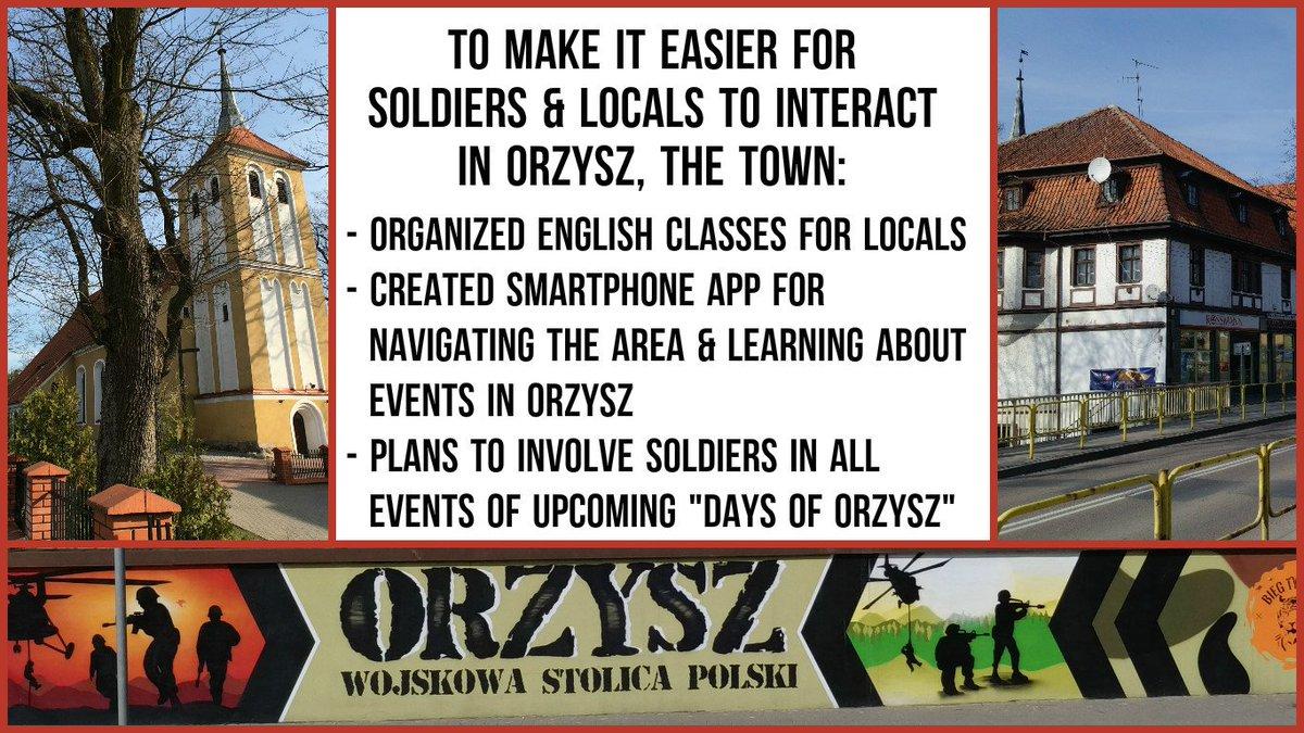 Orzysz —AccordingtoMayorZbigniew Włodkowski,the town ispreparedtohostthe newly-arrived, -ledNATO @BG_Poland_eFP #eFP