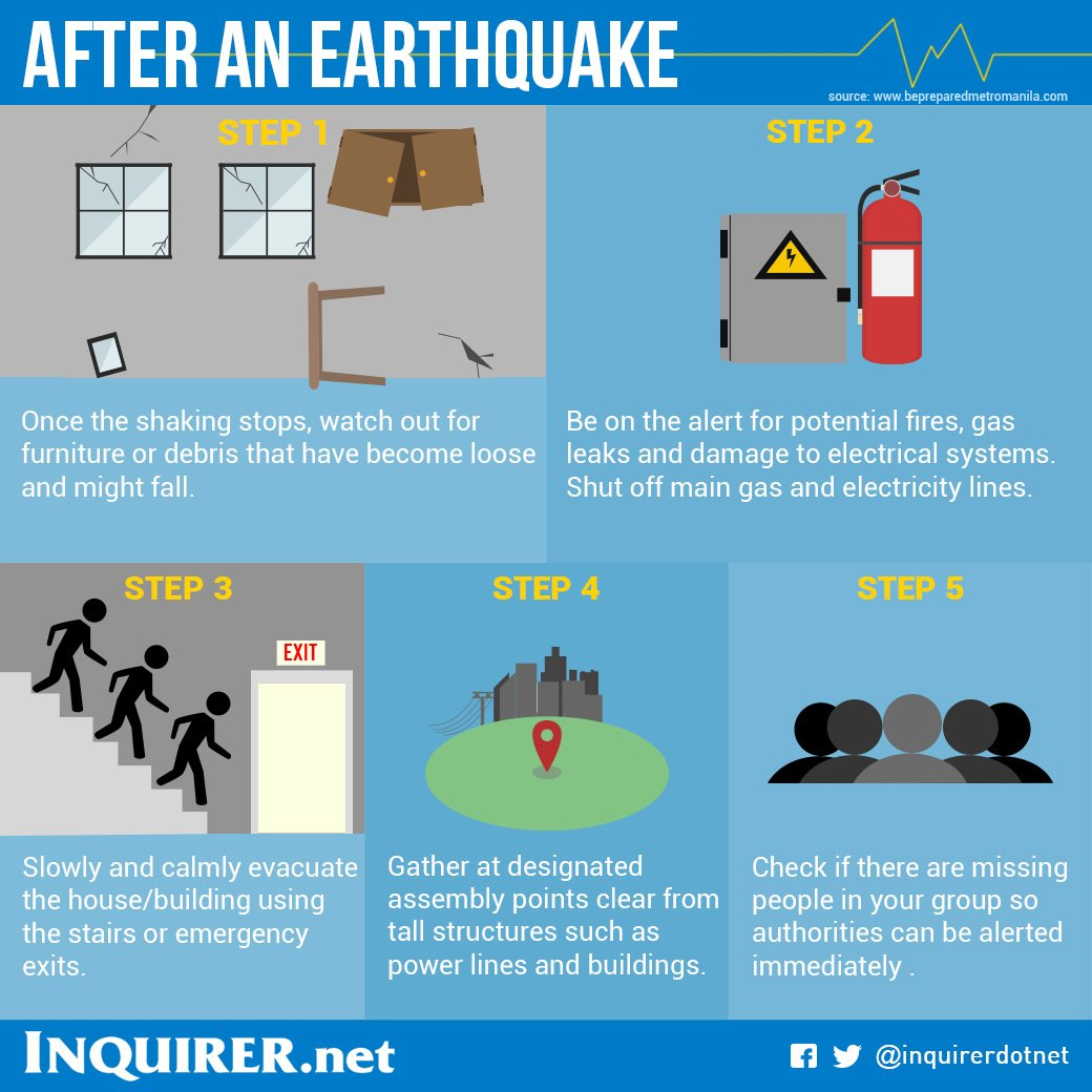 inquirer on twitter what to do before during and after