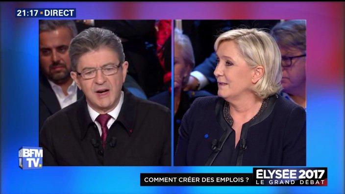 #LeGrandDebat 'Je suis élu, plus de travailleurs détachés' dit @JLMelenchon 📺bfmtv.com/mediaplayer/li…
