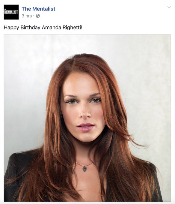 Official TM Facebook page. Happy Birthday to Amanda Righetti!