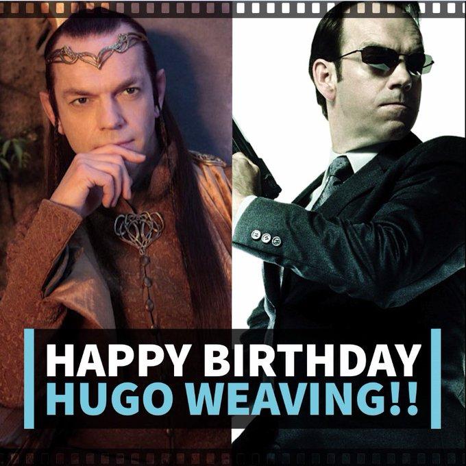Happy Birthday to our favorite Elf/Agent/Transformer/Supervillain Hugo Weaving!