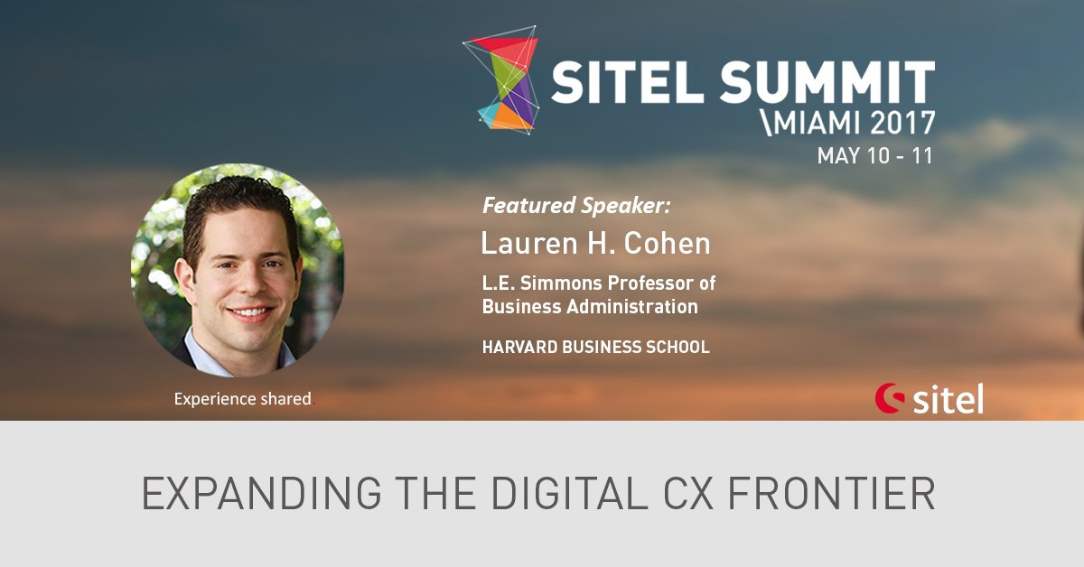 Lauren H. Cohen, Professor @HarvardHBS and Research Associate @nberpubs will be at the #SitelSummit  https://goo.gl/eOc3Qi