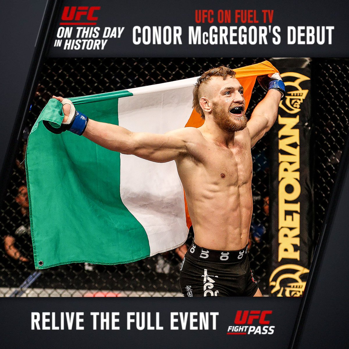 #OnThisDay in 2013: @TheNotoriousMMA made his debut! The rest is history...