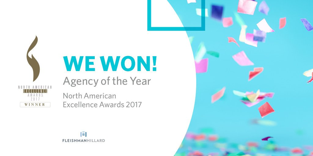 Great news: We won Agency of the Year at this year's North American Excellence Awards! https://t.co/DoamQ4sPAq https://t.co/62OhGK6hsU