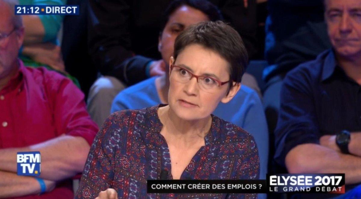 '- Madame Arthaud, au sujet du terrorisme ? - C'EST LA FAUTE DU PATRONAAAAAAAAT !!!' #LeGrandDebat