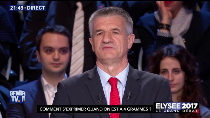 En fait Jean Lassalle ne participe pas au même débat que les autres... #LeGrandDebat