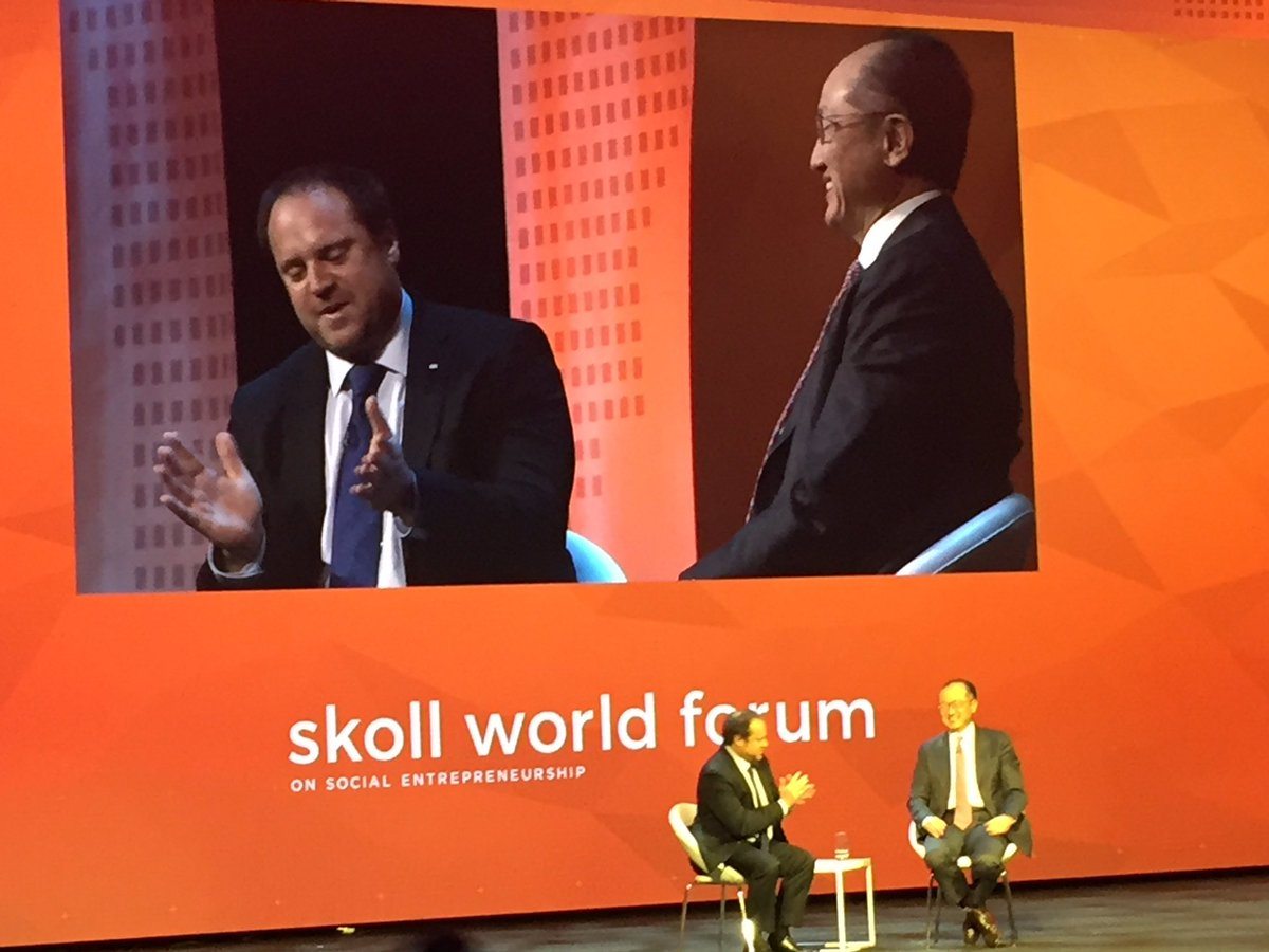 """Finance is what is going to make the world work for poor people"" Jim Kim @WorldBank #SkollWF #impinv https://t.co/5WXQgsL4wJ"