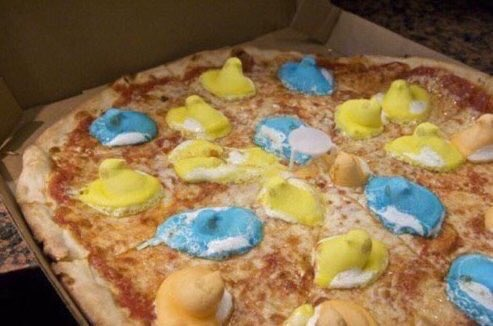 Peeps on a pizza? Discuss.