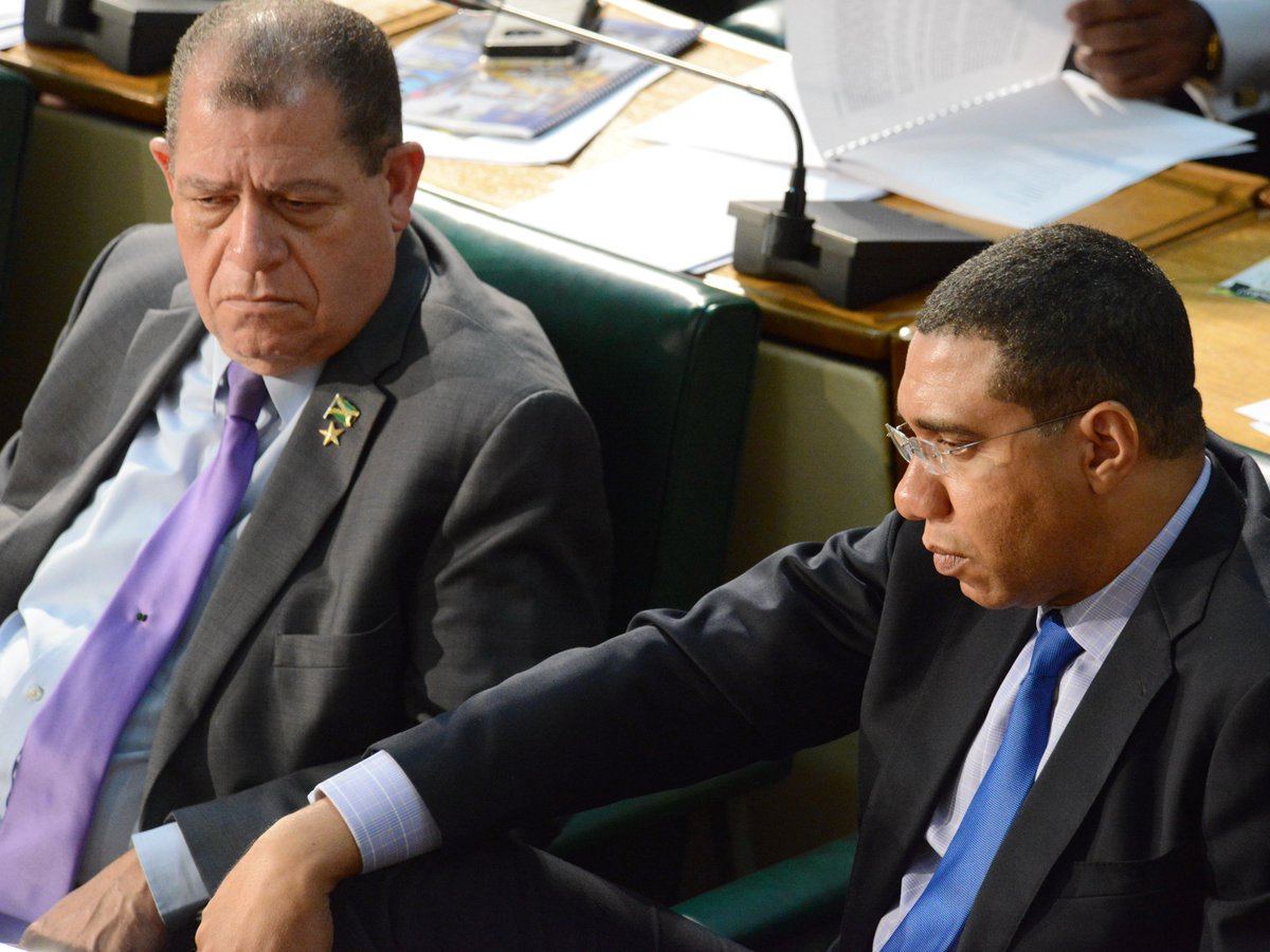 Image result for Pictures of Minister Andrew Holness in Parliament shocked at Lisa Hanna allegations