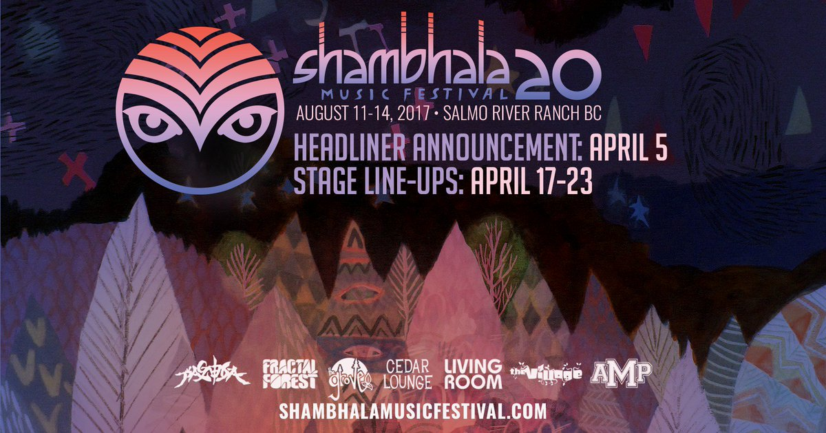 #Shambhala2017 headliner announcement is scheduled for tomorrow - Wednesday April 5! https://t.co/Sf1lkldrIK