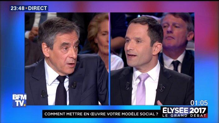 #LeGrandDebat 'Vous avez ruiné le pays' dit @benoithamon à Fillon  📺ht...