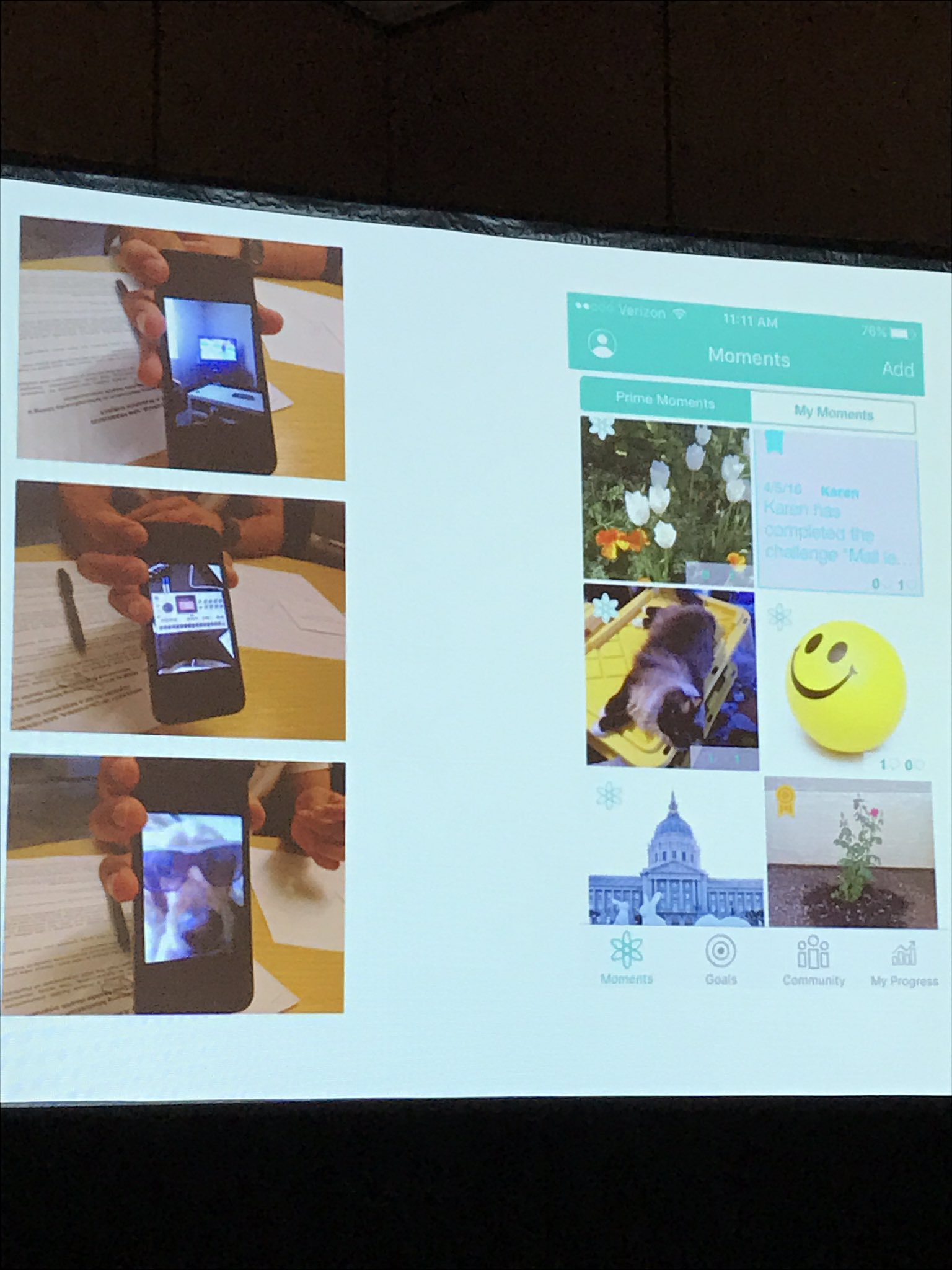 .@ideo PRIME app had users capture moments (pictures that made them happy) & clinicians share too Silvia Vergani of @ideo #NatCon17 #mHealth https://t.co/OHIeAj5Zdq