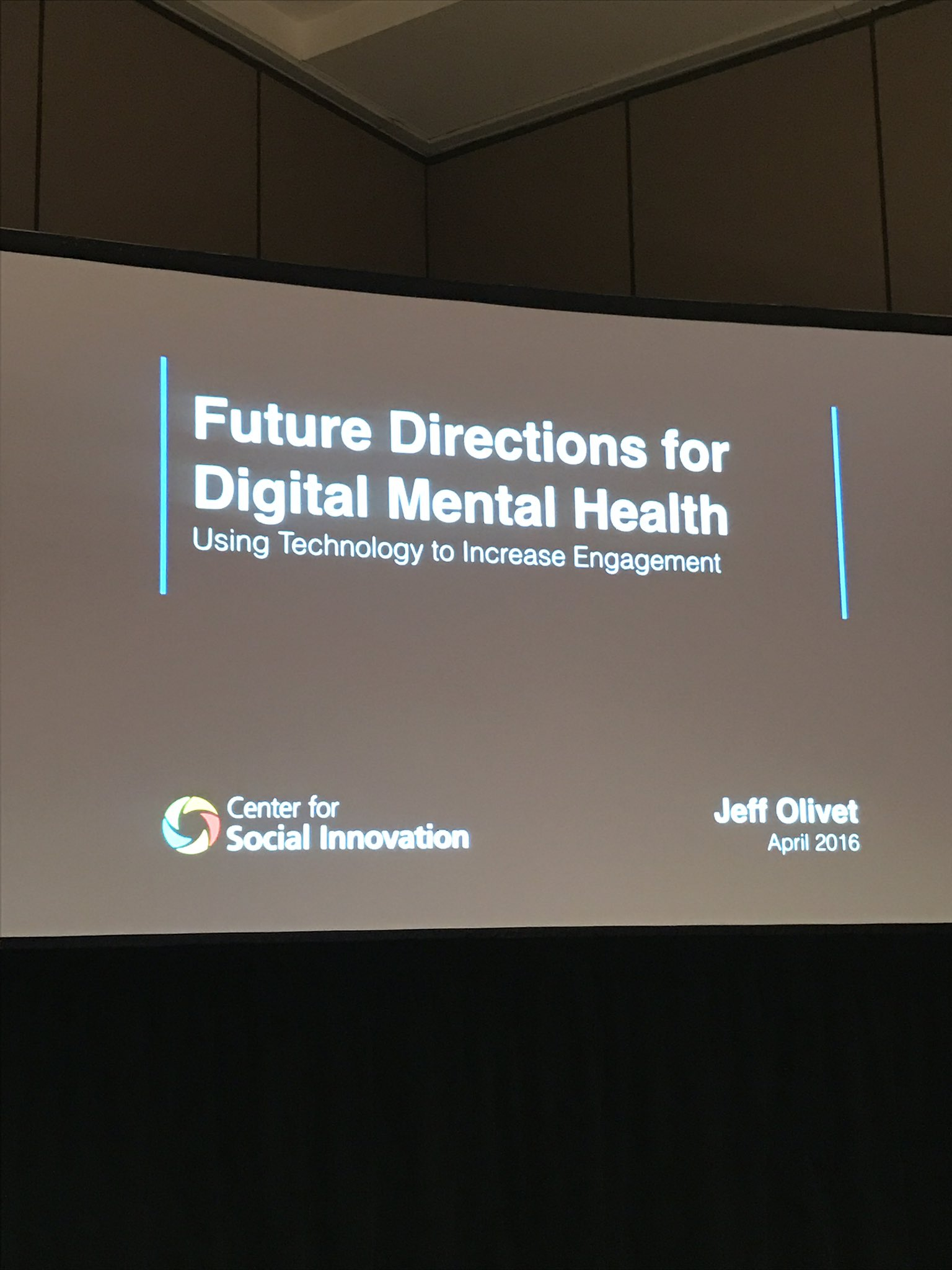 Up next Jeff Olivet from the @c4innovates updates on the future of digital engagement for mental health #NatCon17 #mhealth https://t.co/wC6OKYvaon