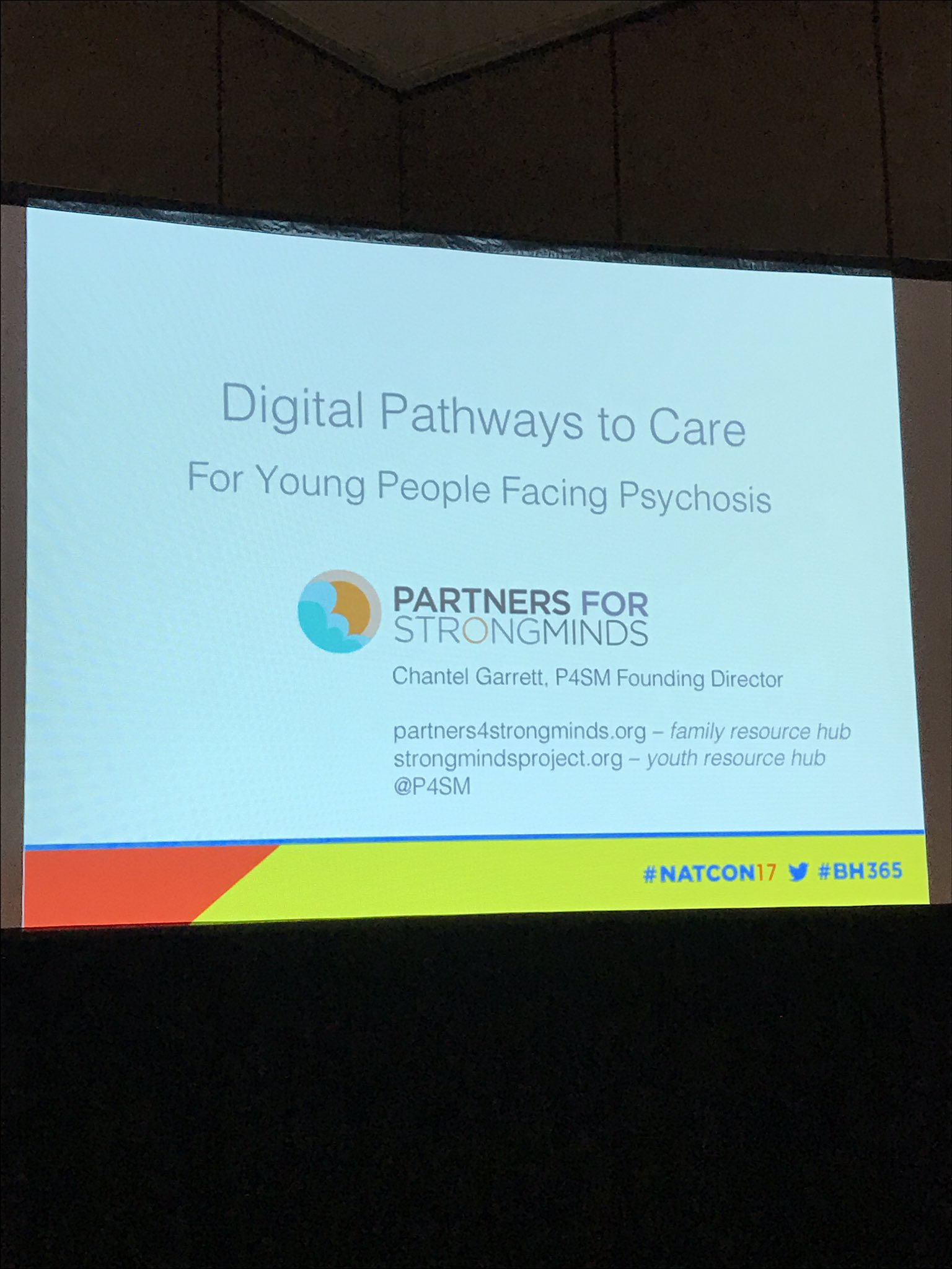 Now hearing from @P4SM about digital tools for First Episode Psychosis ... #NatCon17 https://t.co/2Jhc5st12T