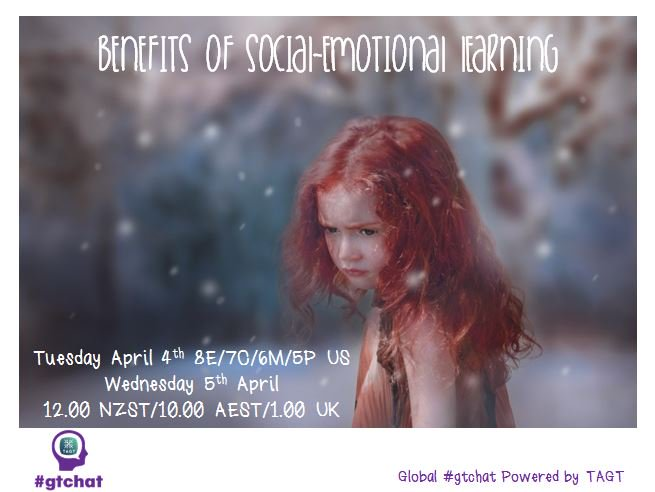 """T-10 till #gtchat - Today we'll be chatting about """"Benefits of Social-Emotional Learning"""" https://t.co/CySrElBoCa"""