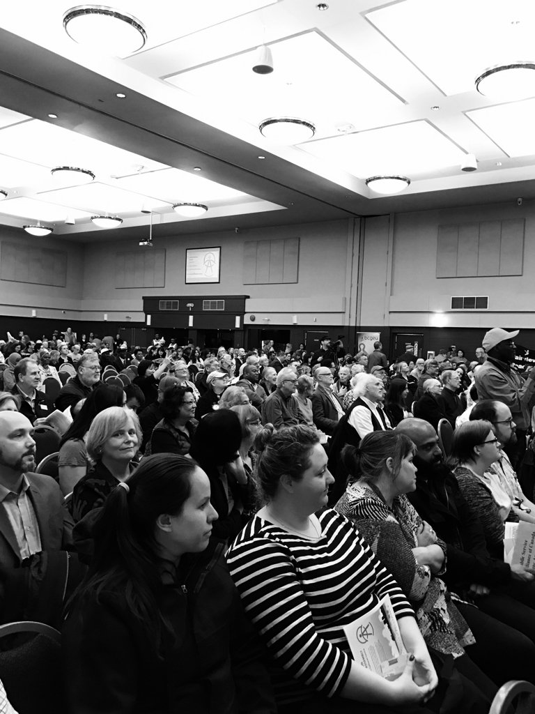 Packed house at the @MetVanAlliance Election Assembly! #bcpoli https://t.co/tnvObaVFTc