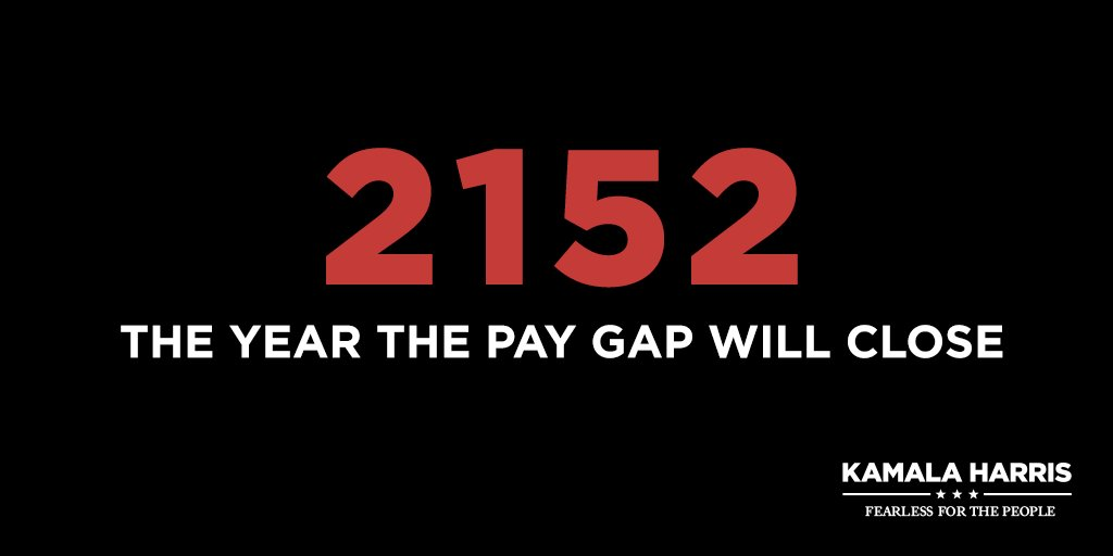 At the rate we're going, women won't be paid as much as men until 2152. #EqualPayDay