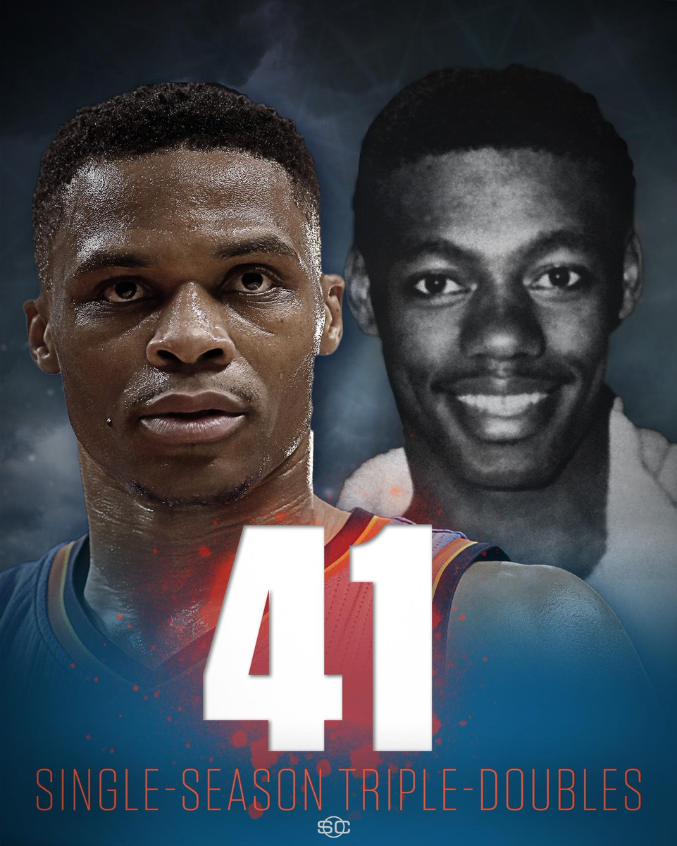 Russell Westbrook just tied Oscar Robertson for most single-season triple-doubles in NBA history.