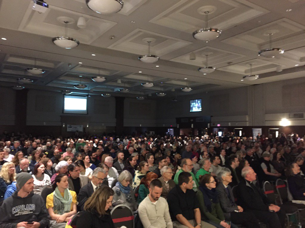 Here with ~900 of our closest friends at the @MetVanAlliance #bcelxn17 assembly. It's going to be a great night. https://t.co/clal0DP46s