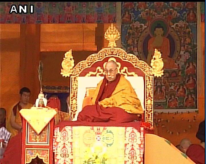 Arunachal Pradesh: The Dalai Lama's preaching session underway in West Kameng district's Bomdila.