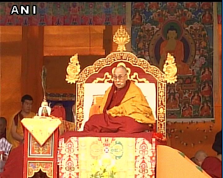 Arunachal Pradesh: The Dalai Lama's preaching session is underway in West Kameng district's Bomdila. (Images: ANI)