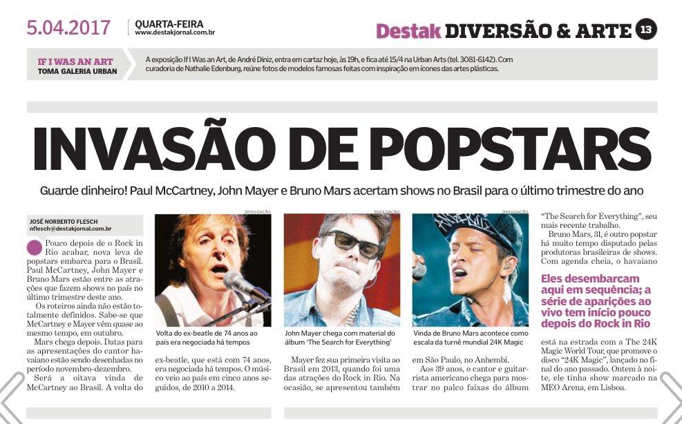 The Beatles Polska: Brazylijska prasa zapowiada koncert Paula McCartneya