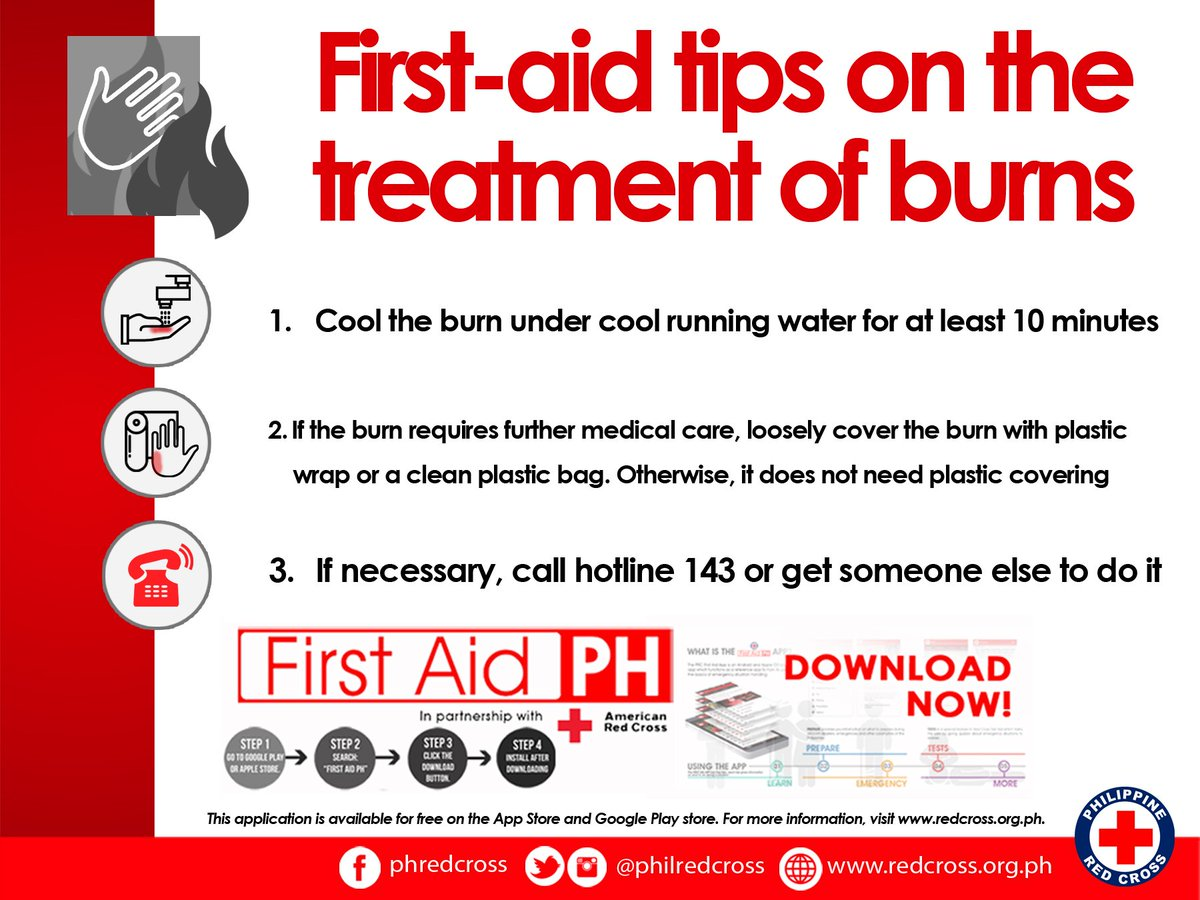 """Philippine Red Cross on Twitter: """"Fire prevention month might be over but  we must remain alert and ready during emergencies.Checkout our first-aid  tips on ..."""