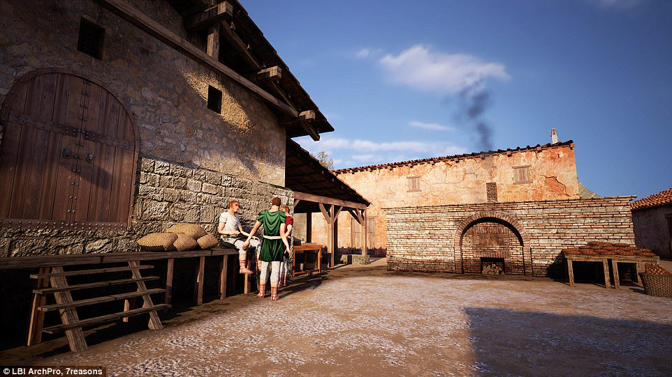 Welcome to Carnuntum: Ancient shops, bars and restaurants are found at a Roman gladiator arena