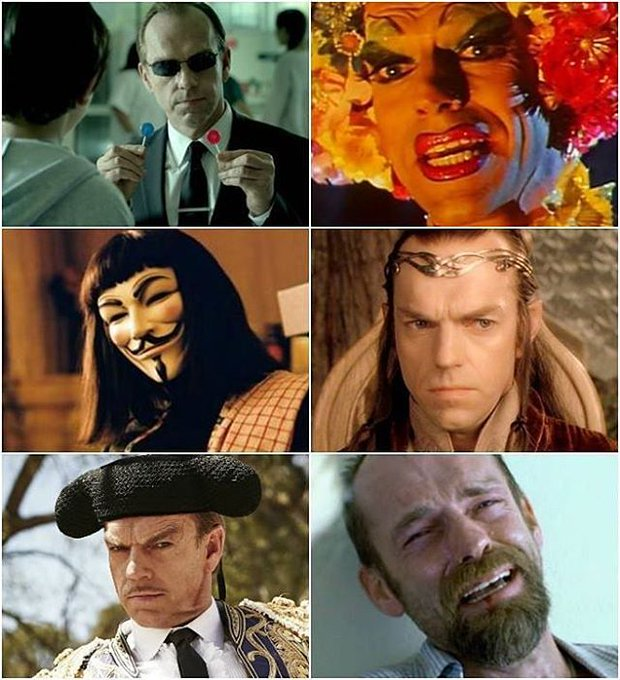 Happy Birthday Hugo Weaving!  Anyone have his message to tag?