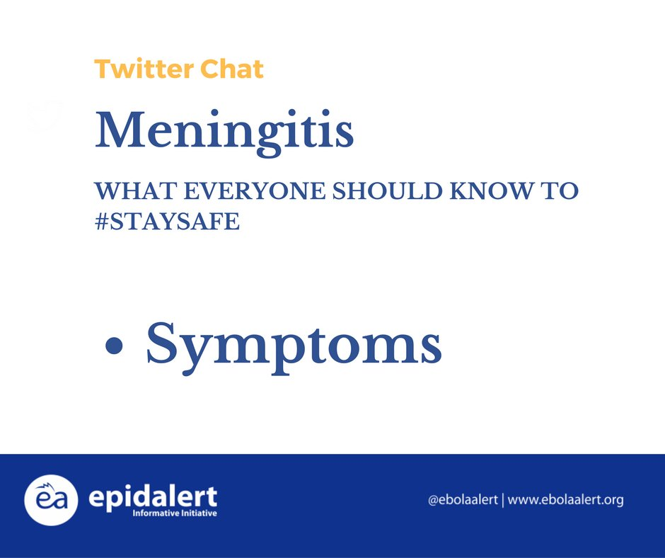 18. The common symptoms are: Fever, headache, vomiting, neck stiffness, altered level of consciousness, photophobia. #Meningitis #StaySafe https://t.co/q59Lv8P4Gg