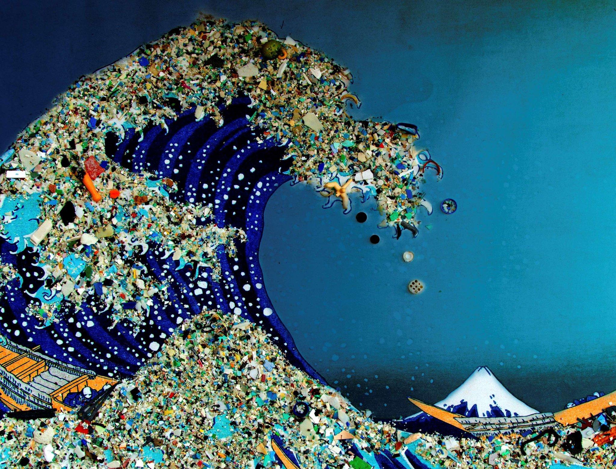 загрязнение мирового океана пластиком смартфон или