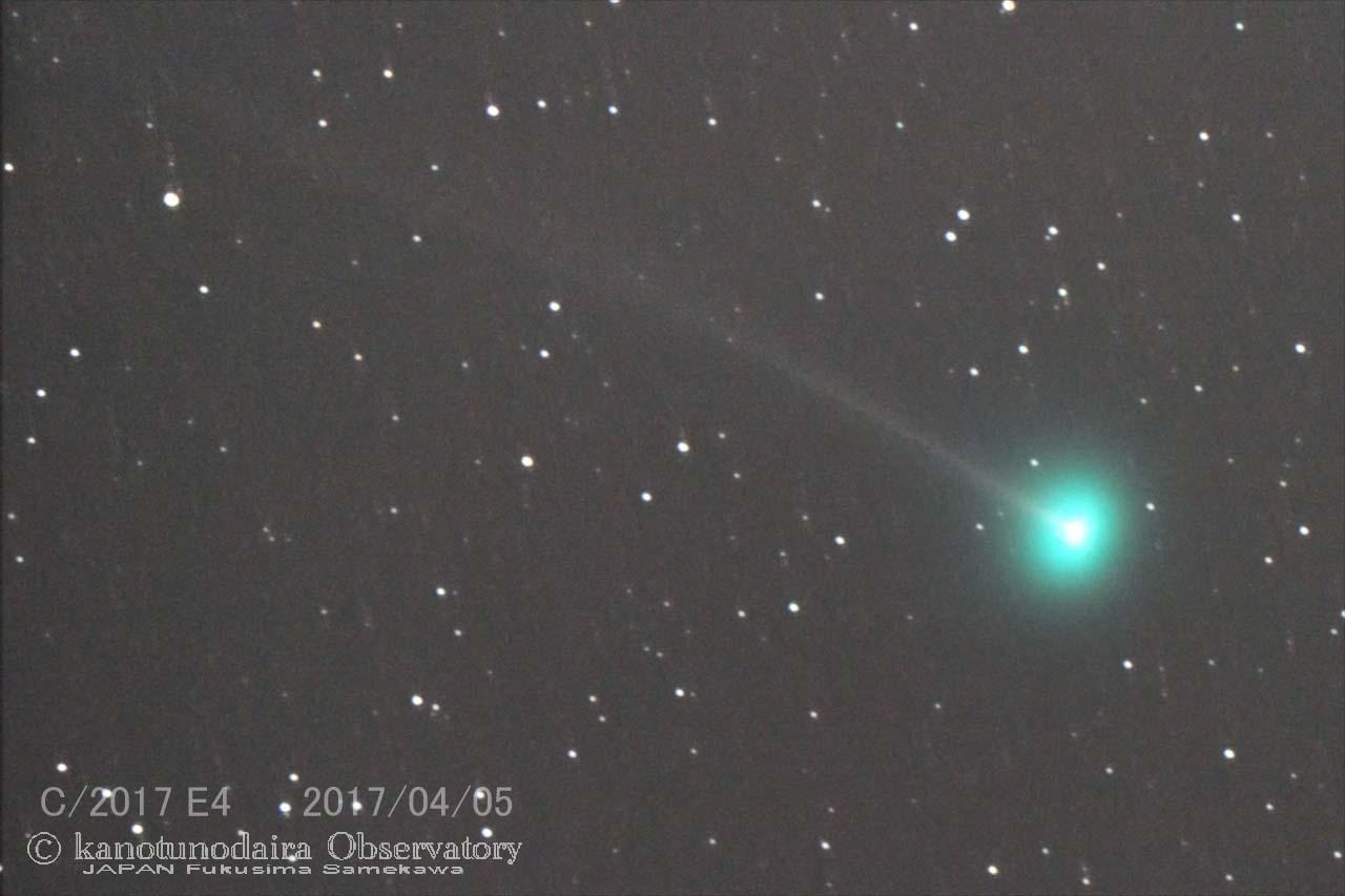 ラヴジョイ彗星(C/2017 E4)初見