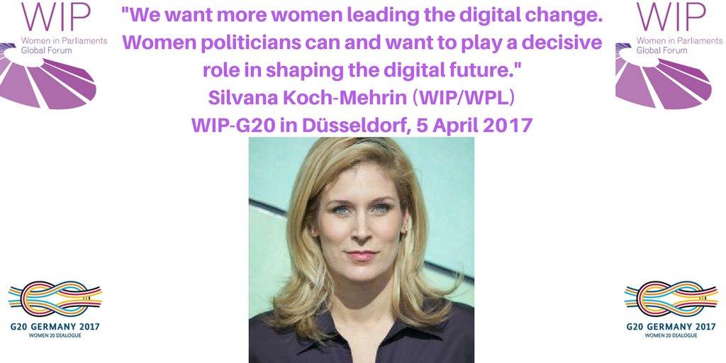 """We want more women leading the #digital change.""  @WPLGlobalForum's @skochmehrin at #W20Germany #G20Digital  #WomenInPolitics #WomenInTech https://t.co/iMlAxOa7BJ"