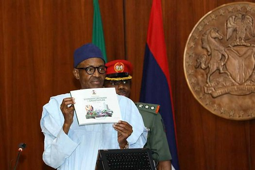 Address/launch Of Nigeria's Economic Recovery & Growth Plan (ERGP, 2017 – 2020) by Buhari at the Council Chambers, State House, Abuja, 5th April, 2017