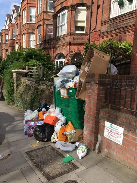 Sent in by a dismayed and horrified Greencroft Gardens resident. @CamdenTories want weekly collections back to avoid this on our streets. https://t.co/fTaRFWFUX9