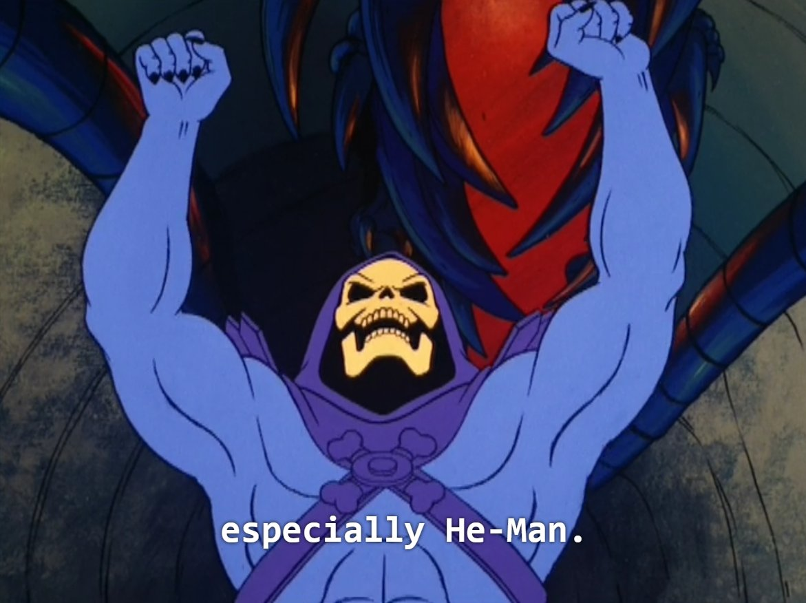 Skeletor raises the roof for He-Man, y'all https://t.co/OXLHRFPNGb
