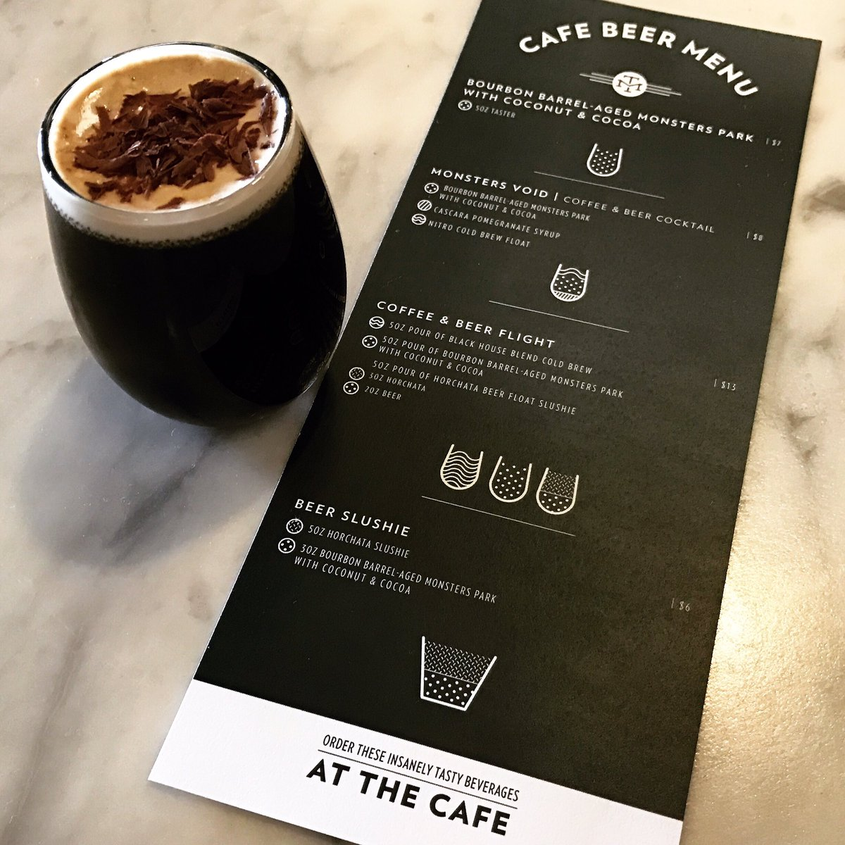 BBA Monsters' Park w/ Coconut & Cocoa, cascara pomegranate syrup, & a nitro cold  brew float… https://t.co/oXXv2rJpxe