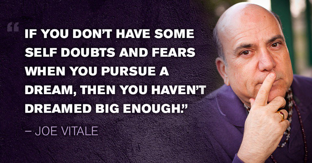 If you don't have some self-doubts and fears when you pursue a goal, then you haven't dreamed big enough. https://t.co/SKAkTz5xGL