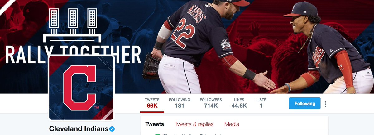 Skins Watch The Top Banner On Cleveland Indians Twitter Page Features A Photo Of Ss Francisco Lindor At One Point Wednesday Showed