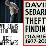 Want to see @DavidSedaris on his tour? Click for a chance to win 2 tix to an event near you! NoPurNec18+Rules apply https://t.co/Qz8fIBIZEC