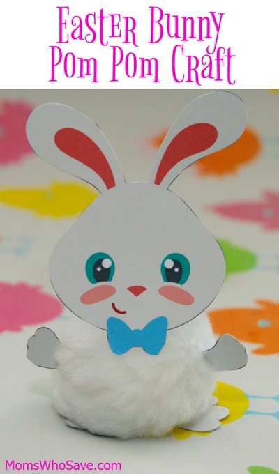 Easter Bunny Pom Pom Craft