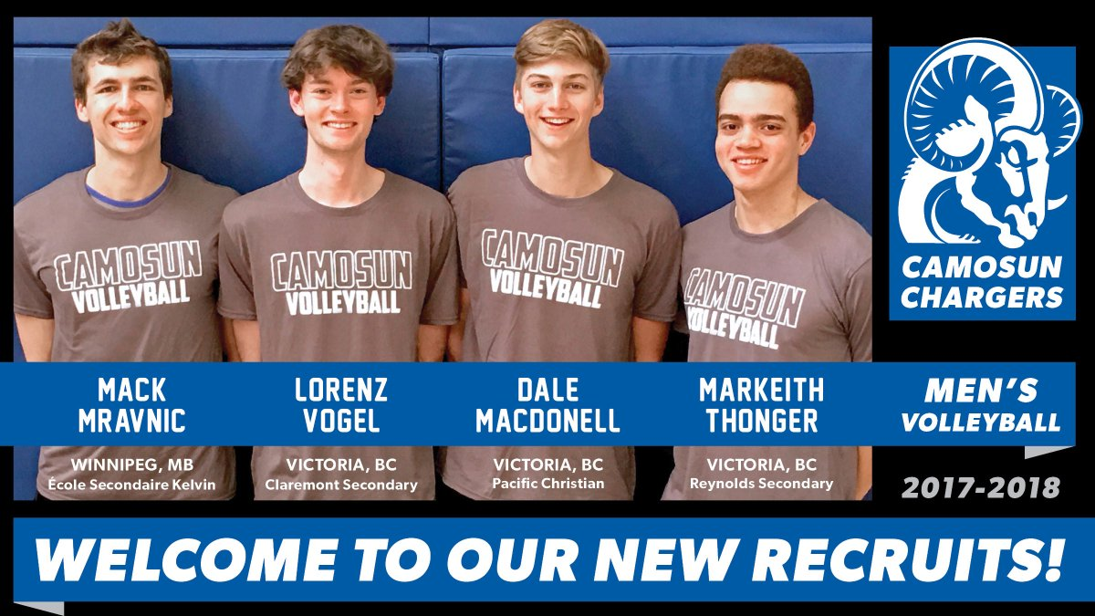 Congrats to Gr12 Dale on being recruited to play Volleyball with @CamosunChargers. We look forward to cheering you on!