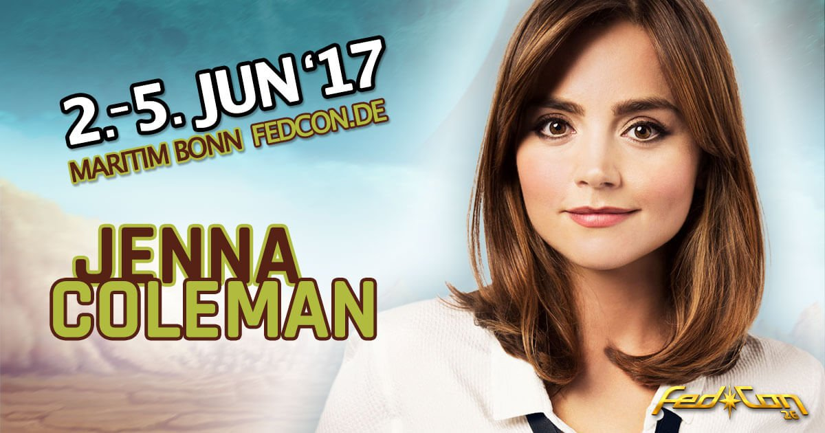Meet the Impossible Girl! @Jenna_Coleman_ is coming to @fedcon #DoctorWho https://t.co/1fscF82B7s https://t.co/BL6DLbyYHG