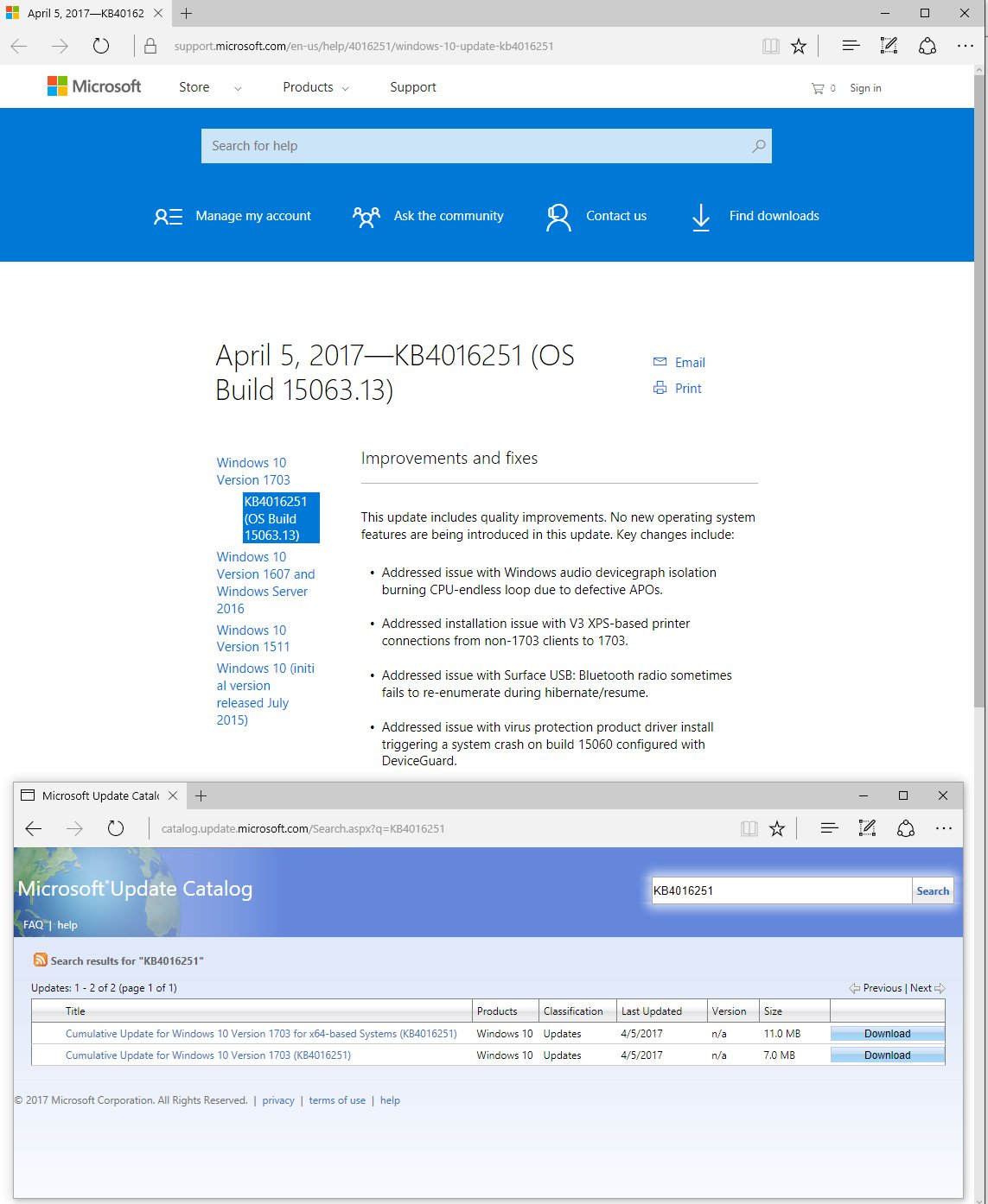 Wzor On Twitter Updates For Windows 10 Version 1703 April 5 2017