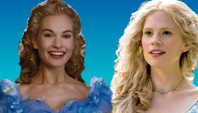 Happy birthday to 2 of the stars of Disney\s Lily James and Haley Atwell.