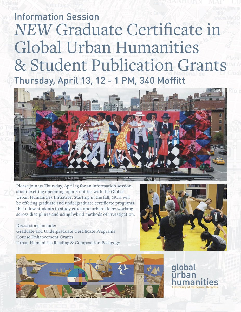 Urban Humanities Ucb On Twitter We Are Excited To Launch The