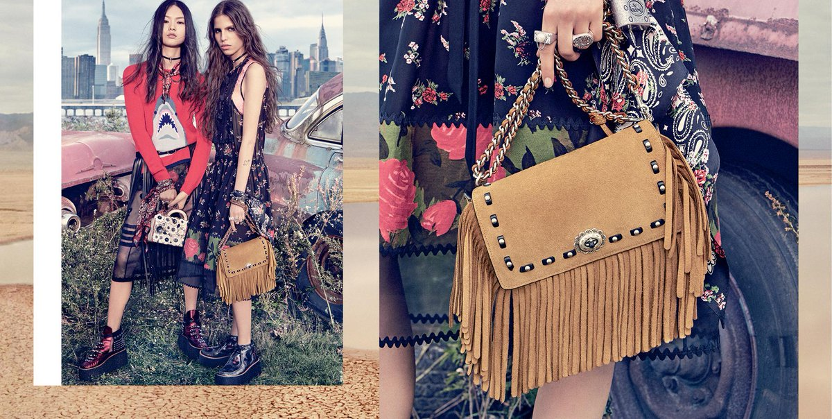 Go full-on boho with swingy suede fringe on the #CoachDinky. #CoachSpring2017 https://t.co/cNA1pE5A3s