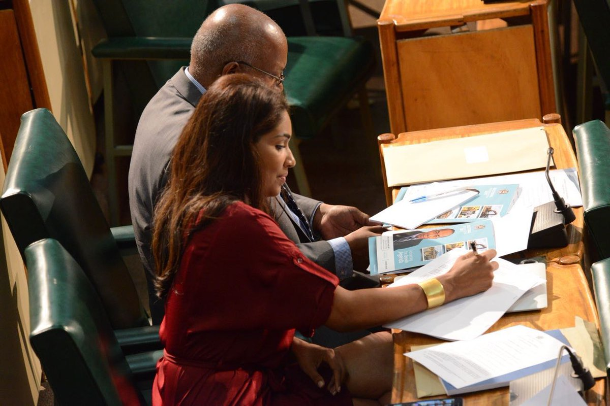 Image result for Pictures of Minister Olivia Grange and Lisa Hanna in Parliament